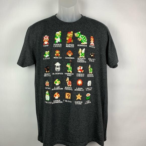 2fa699e5dd0 Super Mario Bros Shirts | Unique Grey Mens Large Tshirt | Poshmark
